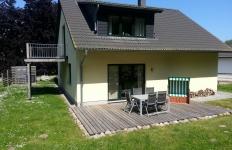 Terrasse Haus Pappelwald mit Strandkorb