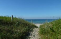 Strandübergang an der Schaabe