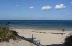 Strand bei Sommersturm
