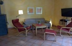 Das Wohnzimmer in der Wohnung 1