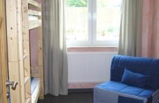 Ein Schlafzimmer mit Stockbetten